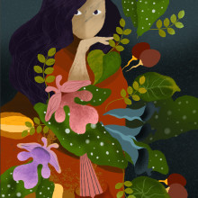 My project in Flat Illustration with Photoshop course. A Illustration project by Andrea Brenes - 05.31.2020