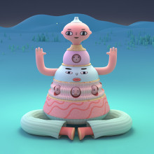 Pictoplasma Intro 2019. A Animation, 3D Animation, 3d modeling, and 3D Character Design project by Laurie Rowan - 05.01.2019