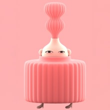 Pink Series. A Illustration, and 3D Character Design project by Laurie Rowan - 05.01.2019