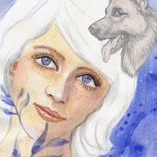 My project in Illustrated Portrait in Watercolor course. Un progetto di Brush painting e Illustrazione digitale di koutna.marianna - 01.06.2020
