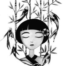 Introducción a la ilustración con tinta china. Un proyecto de Ilustración de Iana perez nollet - 03.06.2020