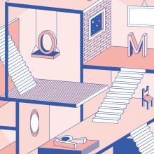 Amor isométrico. Um projeto de Design e Ilustração de Gisele Murias - 07.06.2020