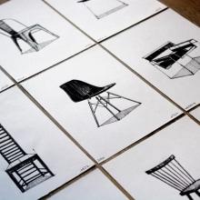 Colección de Sillas Icónicas. A Design, Illustration, Industriedesign, Produktdesign, Zeichnung und Illustration mit Tinte project by Fran Molina - 10.03.2018