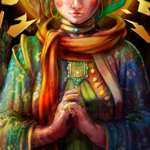 Kendra - The Witch Priest. Un projet de Character Design, Illustration numérique, Jeux video , et Art conceptuel de Michael Domínguez Illescas - 07.06.2020