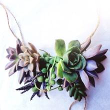 Accesorios de Suculentas en VIVO  - Crafty Tuesdays Domestika. Un projet de Artisanat de Compañía Botánica - 09.06.2020