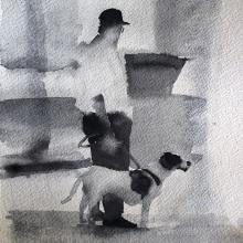 B&W Watercolor Figures. Un proyecto de Pintura a la acuarela de João Paulo de Carvalho - 06.06.2020