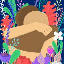 El abrazo. Um projeto de Ilustração e Ilustração botânica de Gisele Murias - 12.06.2020