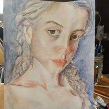 Mi Proyecto del curso: Retrato artístico en acuarela. A Watercolor Painting project by Jeniffer Mazariegos - 05.02.2020