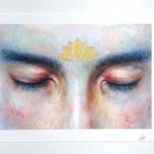 Dreaming of Paradise Watercolor Painting. Un progetto di Illustrazione, Pittura ad acquerello, Illustrazione di ritratto, Disegno di ritratto , e Disegno realistico di Arthur Braud - 14.06.2020