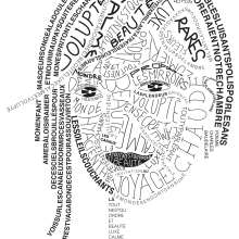 My project in Hand-Drawn Typographic Portrait course. A Portrait illustration, T, pograph, design, H, and Lettering project by Dimitra Kountiou - 06.15.2020