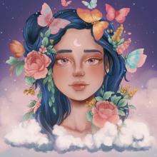 Mi Proyecto del curso: Retratos digitales de fantasía con Photoshop. A Illustration, Digital illustration, and Digital Drawing project by Paola Carrera Ramírez - 06.17.2020
