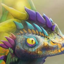 Bringing a Dragon to Life!. Un proyecto de Diseño de personajes 3D de Chris Graham - 17.06.2020