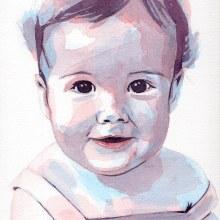 Mi Proyecto del curso: Retrato artístico en acuarela. A Fine Art, Painting, Watercolor Painting, Portrait illustration, and Portrait Drawing project by Begoña Blázquez Parro - 06.21.2020