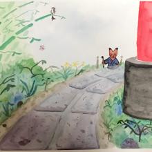 Mi Proyecto del curso: Ilustración en acuarela con influencia japonesa. A Illustration project by Tomás Garnier - 06.23.2020