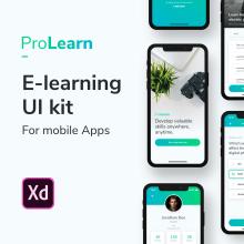 ProLearn E-learning UI Kit. Un projet de Design , UI / UX, Design d'interaction, Conception de produits, Web Design, Conception mobile, Conception digitale , et Conception d'applications de Francisco Aguilera G. - 23.06.2019