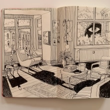 Sketching on my Moleskine. A Interior Design, Sketching, Architectural illustration, and Sketchbook project by Carlo Stanga - 06.23.2020