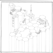 What I've been doing since the course finished.... A Ink Illustration project by Howard Ricketts - 06.22.2020