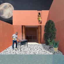 Mi Proyecto del curso: Representación gráfica de proyectos arquitectónicos. A Architecture project by Jonatan Acosta - 07.23.2020