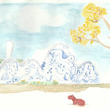 Meu projeto do curso: Ilustração em aquarela com influência japonesa. Un proyecto de Pintura de Eduardo Shiiti Jacob Toma - 25.06.2020