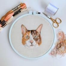 Mi Proyecto del curso: Needle painting para principiantes. A Embroider project by Maria Paula Sanabria - 06.26.2020