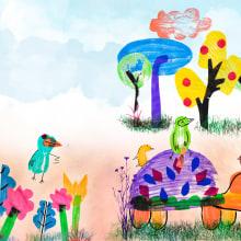 Mi Proyecto del curso: Técnicas de estampación para niños. A Illustration, Collage, and Printing project by Andrea Nogales - 06.26.2020