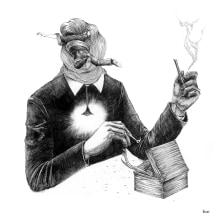 """Novela ilustrada """"Tiempo Muerto"""". A Bildende Künste, Porträtzeichnung und Realistische Zeichnung project by Iñaki Landa - 25.06.2020"""