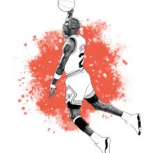 Michael Jordan. Un proyecto de Ilustración de retrato e Ilustración digital de Pako Martinez - 30.06.2020