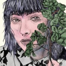 Mi Proyecto del curso: Retrato ilustrado con Procreate. A Illustration, and Sketching project by Luis Hernandez - 07.04.2020