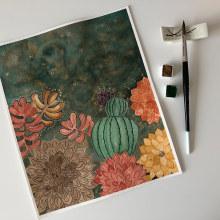 Mi Proyecto del curso: Creación de paletas de color con acuarela. A Watercolor Painting project by Carla - 07.09.2020