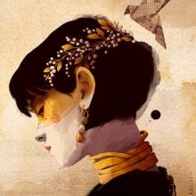 SOMNIUM. A Illustration, Fine Art, Painting, Creativit, Drawing, Portrait illustration, Digital Drawing, and Digital Painting project by Ricard López Iglesias - 07.09.2020