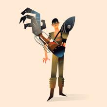 Furiosa. Un progetto di Illustrazione, Cinema, video e TV, Character Design, Illustrazione vettoriale e Illustrazione digitale di Nathan Jurevicius - 10.07.2020