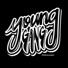 Young gang. Un progetto di Lettering , e Lettering digitale di federico capón - 11.07.2020