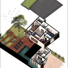 My project in Digital Illustration of Architectural Projects course (Casa 4). Un proyecto de Ilustración arquitectónica de Rafaella Miranda - 28.05.2020