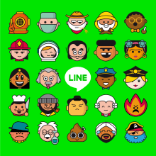 1000 Emojis para Line. A Design, Illustration, Grafikdesign, Vektorillustration und Icon-Design project by Rebombo estudio - 15.07.2020