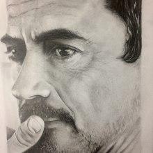 Meu projeto do curso: Retrato realista com lápis grafite. Um projeto de Desenho de Retrato de Elisabete Della Rosa Pimentel - 15.07.2020