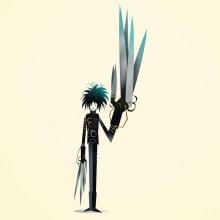 Edward Scissorhands. Un progetto di Illustrazione, Character Design, Illustrazione vettoriale e Illustrazione digitale di Nathan Jurevicius - 15.07.2020