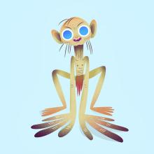 Gollum. Un progetto di Illustrazione, Character Design, Illustrazione vettoriale e Illustrazione digitale di Nathan Jurevicius - 17.07.2020