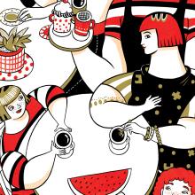 La esperanza se sirve en taza de café. A Illustration project by Sonia Alins Miguel - 03.27.2020
