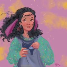 Mi Proyecto del curso: Retrato de personajes femeninos con Procreate. Un proyecto de Ilustración y Dibujo de Retrato de Lara Nicolau - 21.07.2020