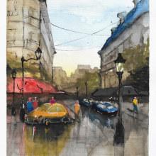My project in Urban Landscapes in Watercolor course. Un proyecto de Ilustración arquitectónica de Rafaella Miranda - 22.07.2020