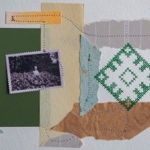 My project in Experimental Embroidery Techniques on Paper course. A Crafts, Collage, Concept Art, Embroider, Sewing, Fiber Arts, DIY, and Analog photograph project by Senni Aleksandra - 07.24.2020