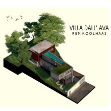 Ilustración Digital: Villa Dall'Ava / Rem Koolhaas. Un projet de 3D, Architecture et Illustration architecturale de Consuelo Mardones Mödinger - 25.07.2020