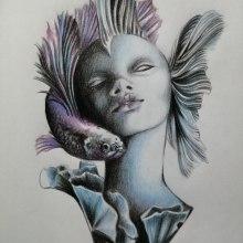 Mi Proyecto del curso: Retrato creativo en claroscuro con lápiz. Un proyecto de Dibujo a lápiz y Dibujo artístico de Soledad Martínez - 27.07.2020