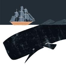 MOBY DICK - LA GRANJA. Un proyecto de Ilustración y Diseño gráfico de Oscar Gómez Trigo - 28.07.2020