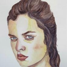 My project in Watercolor Portrait from a Photo course. Un progetto di Pittura ad acquerello di koutna.marianna - 01.08.2020