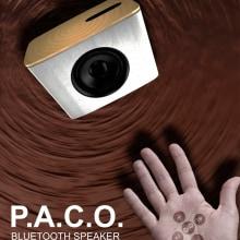 Publicidad e infografía para altavoz Bluetooh P.A.C.O.. Un proyecto de Publicidad, Diseño gráfico y Diseño de carteles de Kambusi - 01.01.2018