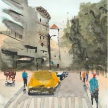 Meu projeto do curso: Paisagens urbanas em aquarela. Un proyecto de Bellas Artes de Eduardo Shiiti Jacob Toma - 03.08.2020