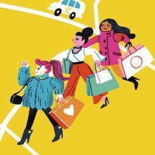 Mapa de Dublin para My Taxi. A Illustration, Advertising, and Digital illustration project by Giovana Medeiros - 07.23.2018