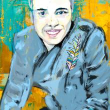 My project in Pictorial Portraits Using Digital Techniques course. Un proyecto de Ilustración digital, Dibujo digital y Pintura digital de Christina art - 04.08.2020