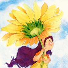 PESSOAL • voando no girassol. A Illustration, Children's Illustration & Ink Illustration project by Juliana Rabelo - 08.04.2020